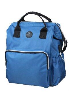 Rucsac pentru mamici, cu mufa USB, Smart Bag, albastru