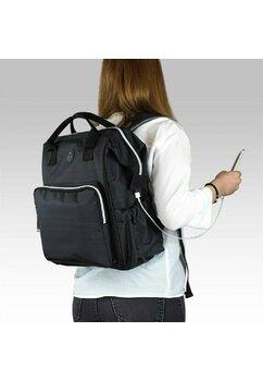 Rucsac pentru mamici, cu mufa USB, Smart Bag, gri inchis