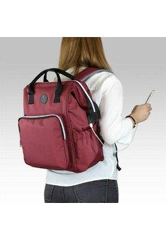 Rucsac pentru mamici, cu mufa USB, Smart Bag, visiniu