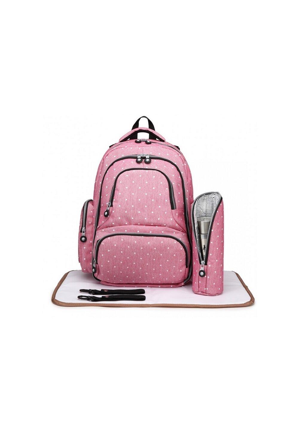 Rucsac Work, pentru mamici, roz cu buline imagine