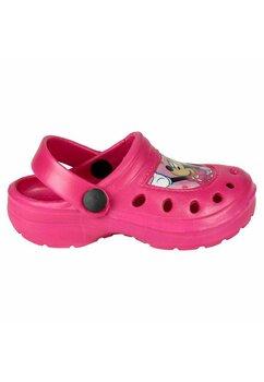 Saboti pentru plaja, Minnie Mouse cu fundita, roz
