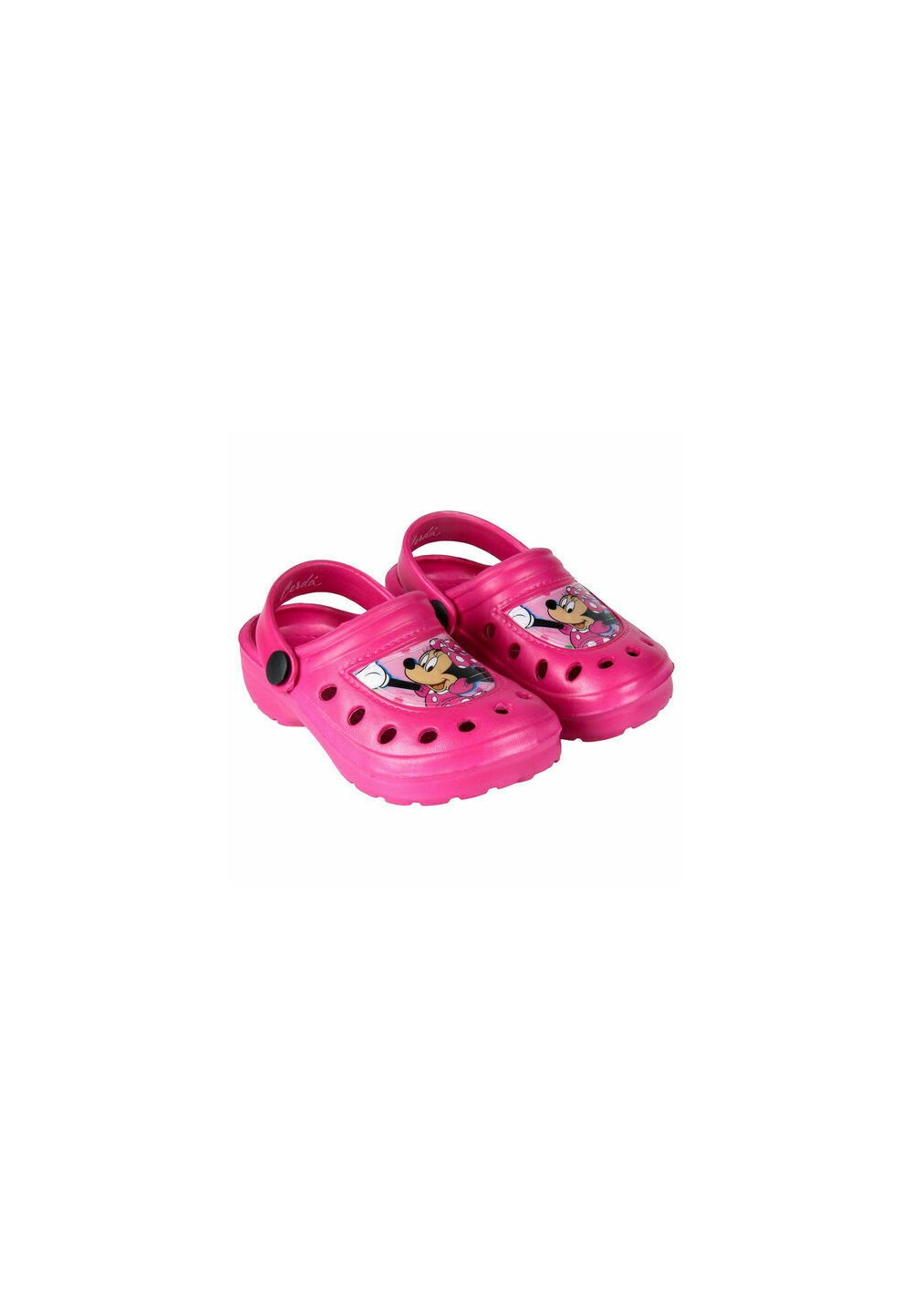 Saboti pentru plaja, Minnie Mouse cu fundita, roz imagine
