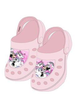 Saboti pentru plaja, Minnie si unicornul, roz deschis