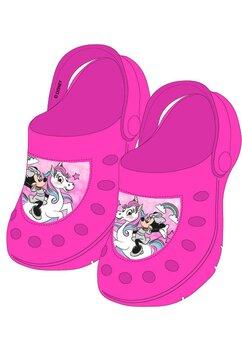 Saboti pentru plaja, Minnie si unicornul, roz inchis