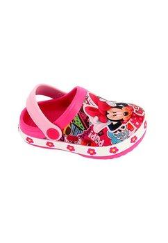 Saboti plaja, alb cu floricele, Minnie Mouse