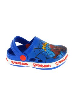 Saboti plaja crocs, Spider-Man, albastri