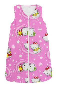 Sac de dormit iarna Hello Kitty roz inchis