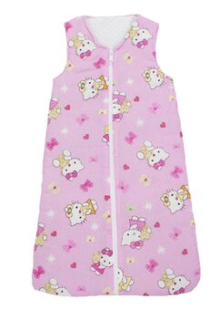 Sac de dormit, iarna, hello kitty, roz deschis