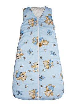 Sac de dormit, iarna, ursulet cu albinute, albastru