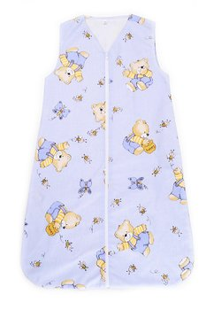 Sac de dormit vara ursulet cu albinute, albastru