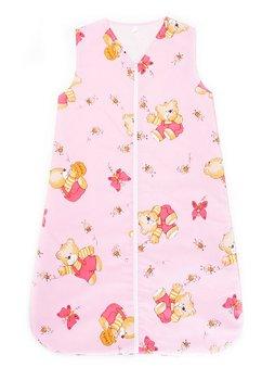 Sac de dormit vara ursulet cu albinute ,roz