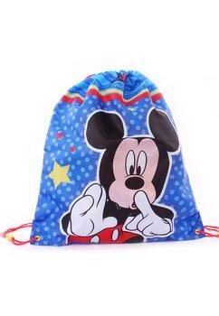 Sac, Mickey Mouse, albastru cu buline