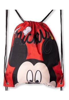 Sac poliester, Mickey Mouse, rosu cu negru