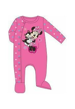 Salopeta bebe, Minnie and cat, roz cu buline