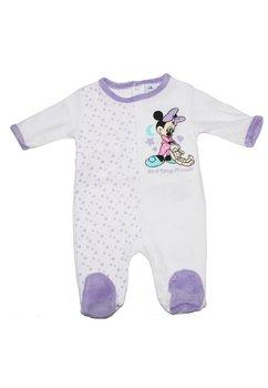 Salopeta bebe Minnie mouse, cu stelute, mov