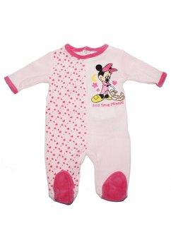 Salopeta bebe Minnie mouse, cu stelute, roz