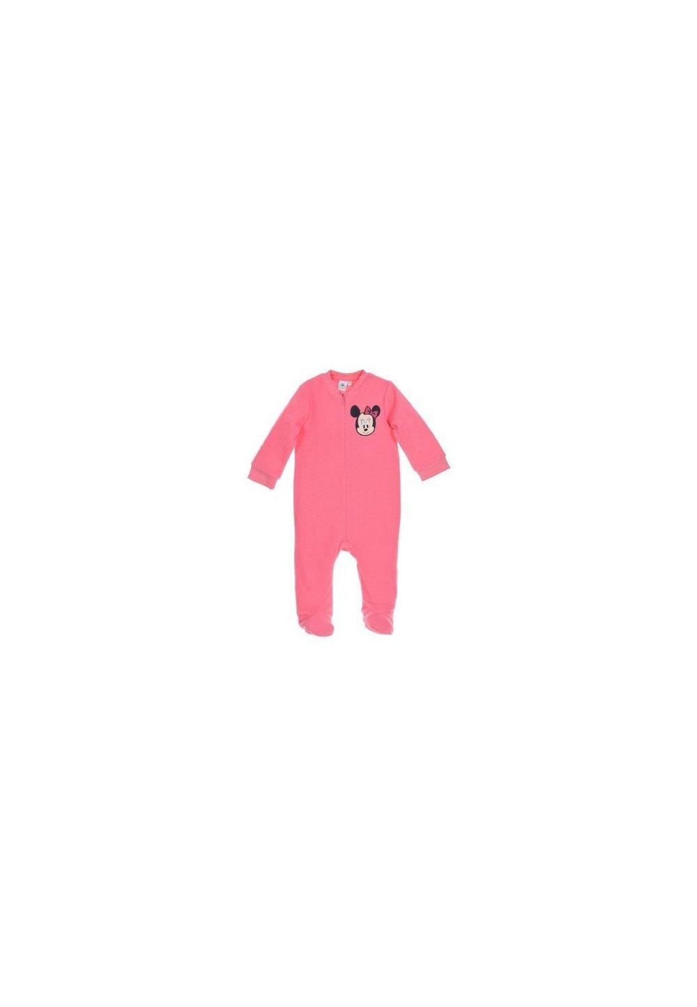 Salopeta fleece, roz deschis, Minnie imagine
