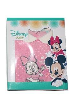 Salopeta interaga, Minnie Mouse, roz cu bulinute albe