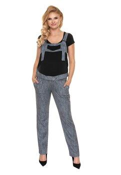 Salopeta jeans cu buzunare, gri