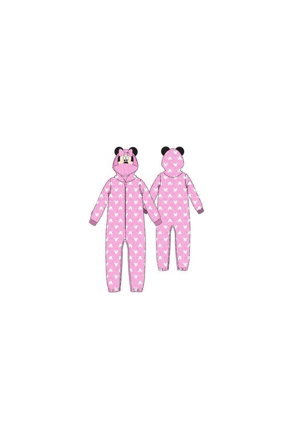 Salopeta, Minnie Mouse, roz cu fundita