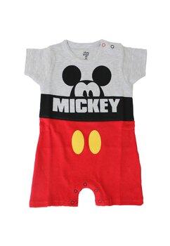 Salopeta vara, Mickey Mouse, gri cu rosu