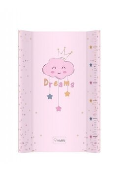 Saltea de infasat, cu intaritura, Dreams, norisor roz, 70x47cm