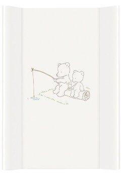 Saltea de infasat cu intaritura, Papa bear, alba, 70 x 50 cm