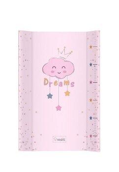 Saltea de infasat moale, Dreams, norisorul roz, 70 x 47 cm