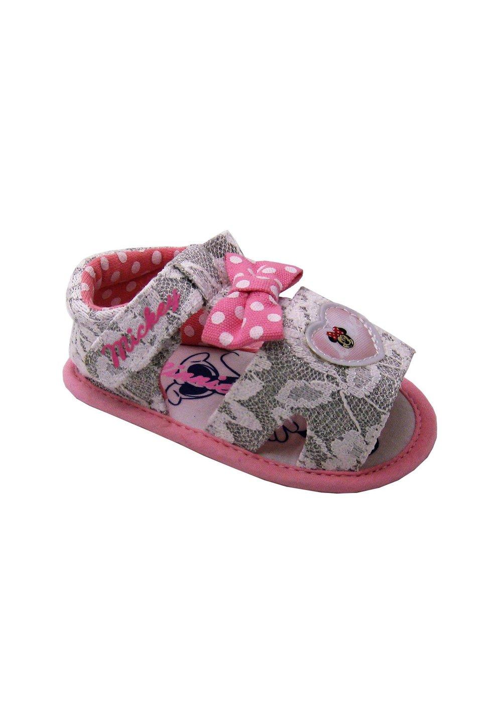Sandale bebe, alb cu dantela, Minnie Mouse imagine