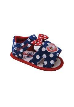 Sandale bebe, albastru cu buline, Minnie Mouse