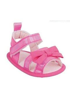 Sandale bebe, roz cu fundita