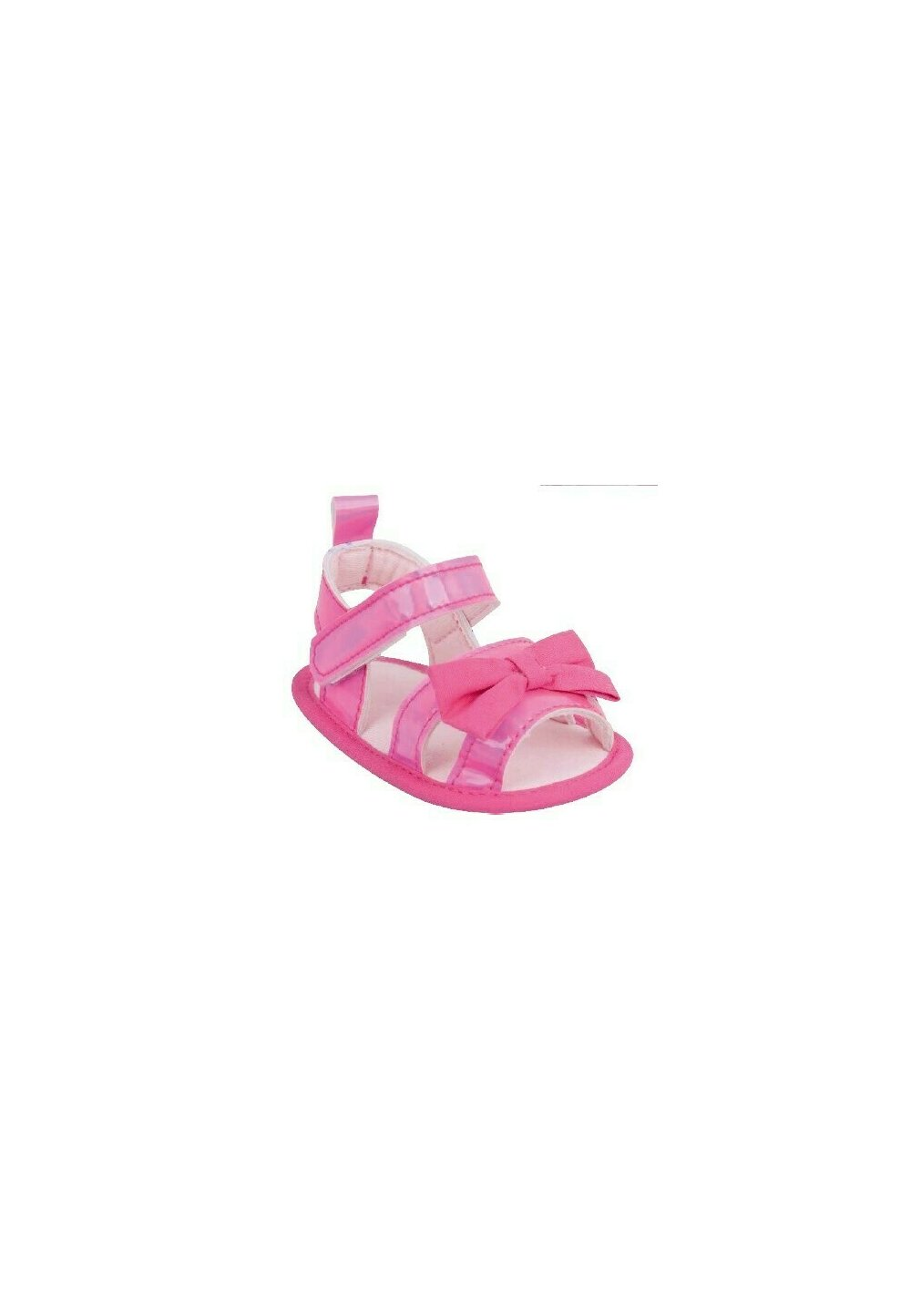 Sandale bebe, roz cu fundita imagine