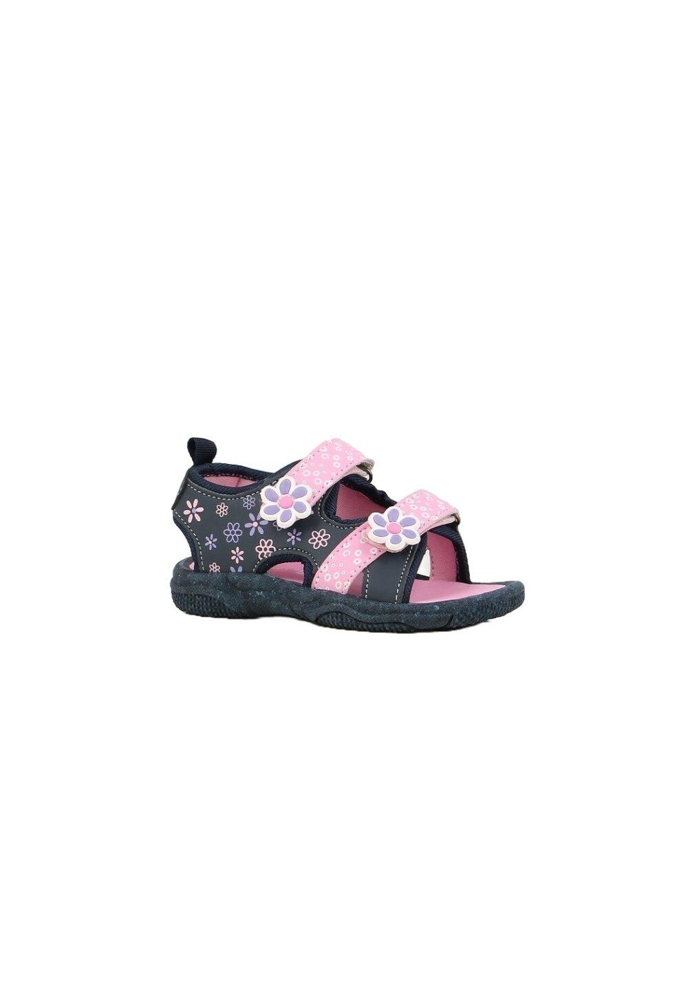 Sandale, bluemarin cu floricele roz imagine