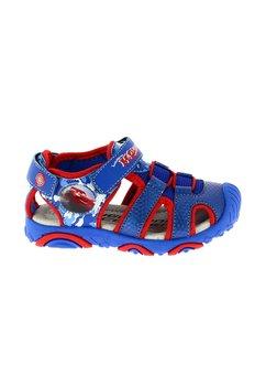 Sandale cu siret, albastru cu rosu, Cars