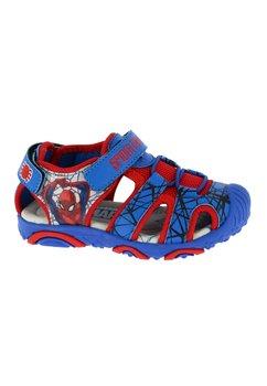 Sandale cu siret, albastru cu rosu, Spider Man