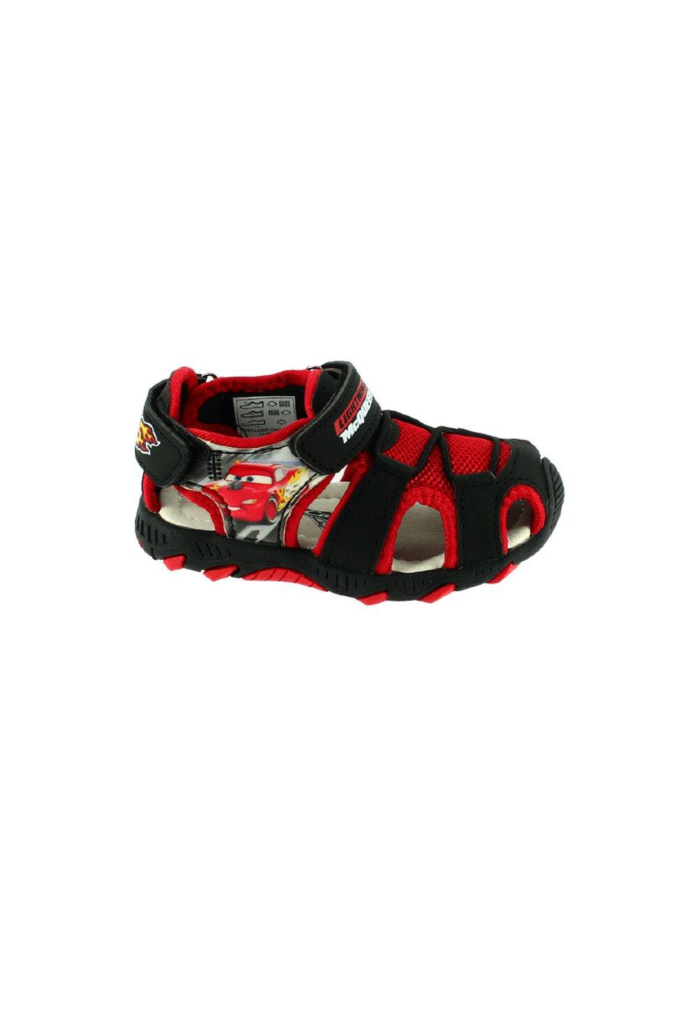 Sandale cu siret, McQueen 95, negru cu rosu