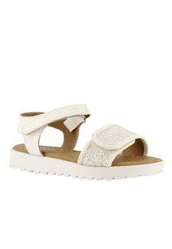 Sandale fete, Happy, albe cu paiete