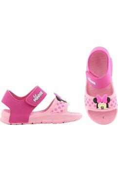 Sandale fete, Minnie, roz cu buline