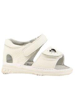 Sandale, ivory cu inimioara
