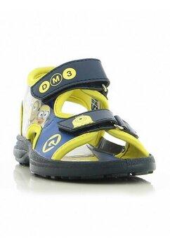 Sandale, Minions, albastru cu galben