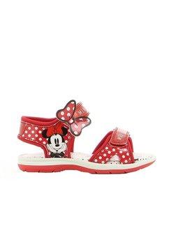 Sandale, Minnie Mouse, rosii cu buline albe