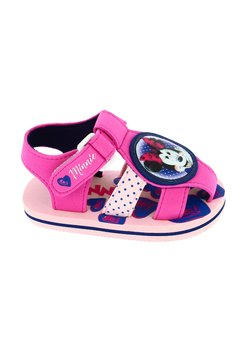 Sandale, Minnie, roz cu inimioare