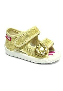 Sandale panza, aurii