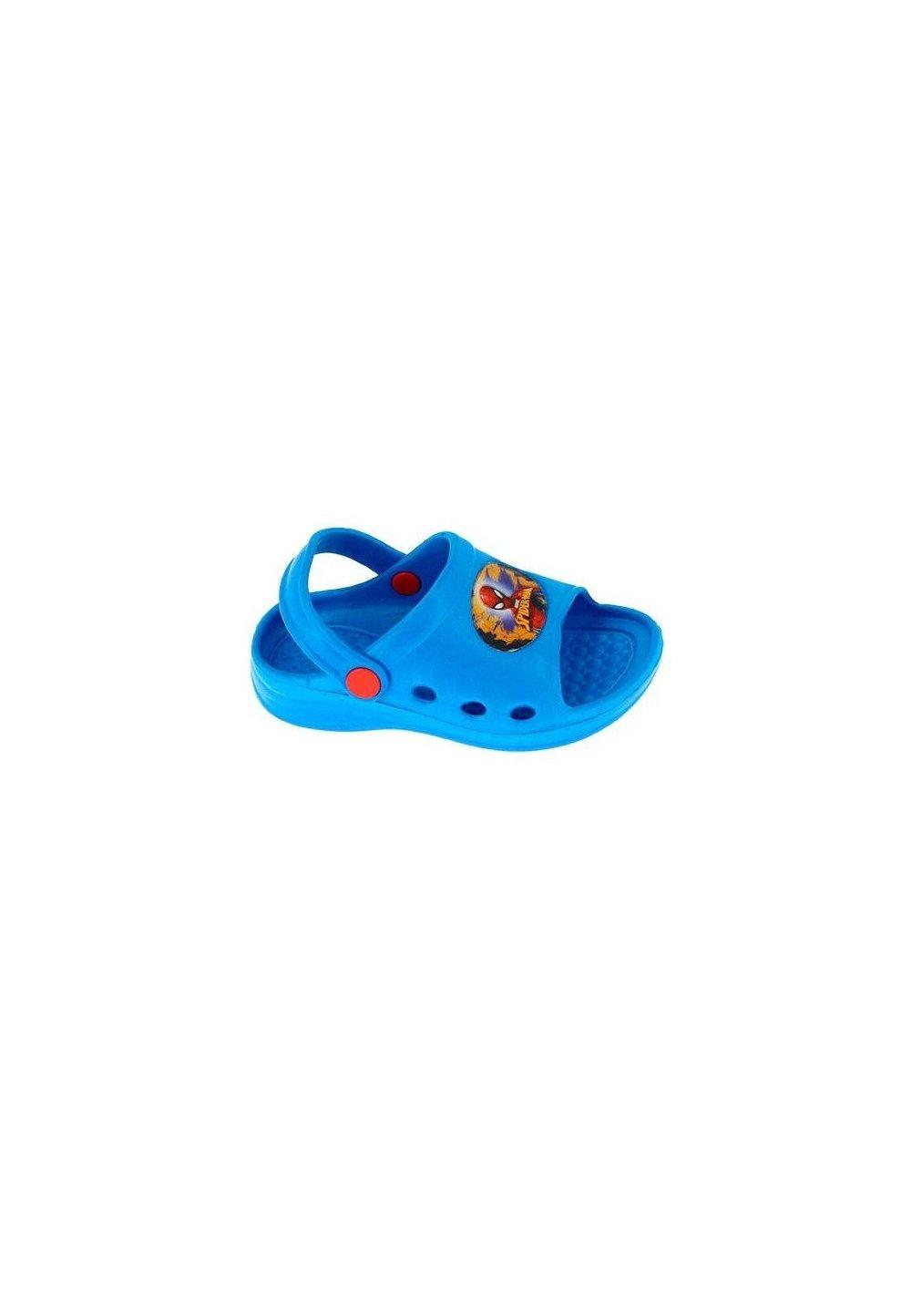 Sandale plaja, albastre, Spider-Man