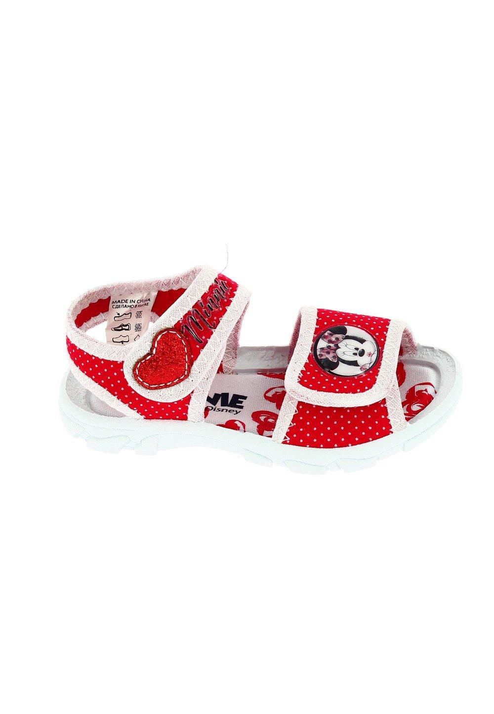 Sandale, rosii cu buline albe, Minnie Mouse imagine