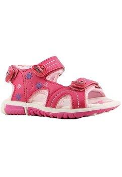 Sandale, roz cu floricele colorate