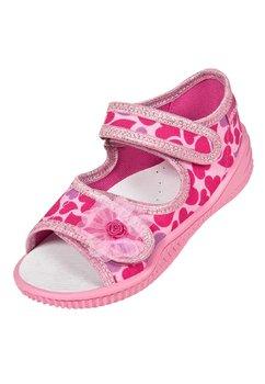 Sandale, roz cu inimioare roz