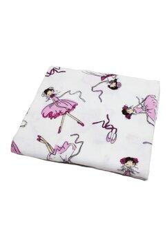 Scutec bumbac, Balerina roz cu alb, 80x70 cm