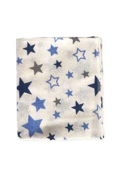Scutec bumbac, stelute colorate, albastru, 80x70 cm