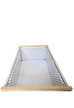 Set 2 aparatoari patut, Prichindel, alb cu zig zag gri, 180x30cm